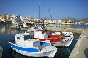 Hora, Harbour, Pigadia, Karpathos Island, Dodecanese, Greek Islands, Greece, Europe by Tuul