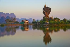 Kyauk Kalap Monastery, Hpa-An, Karen State, Myanmar (Burma), Asia by Tuul