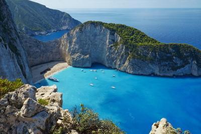 Shipwreck Beach, Zante Island, Ionian Islands, Greek Islands, Greece, Europe by Tuul