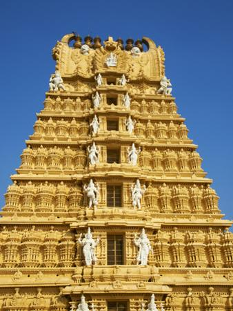 Sri Chamundeswari Temple, Chamundi Hill, Mysore, Karnataka, India, Asia by Tuul