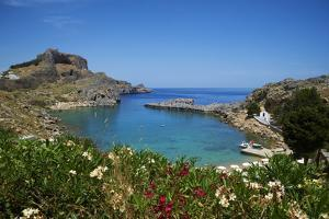 St. Paul Beach. Lindos, Rhodes, Dodecanese, Greek Islands, Greece, Europe by Tuul