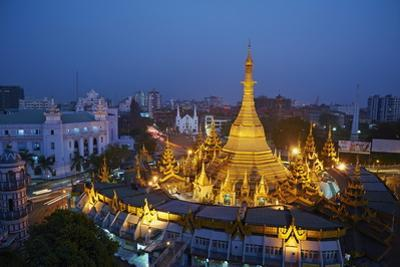 Sule Paya, Yangon (Rangoon), Myanmar (Burma), Asia by Tuul