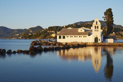 Vlacherna Monastery, Kanoni, Corfu, Ionian Islands, Greek Islands, Greece, Europe by Tuul