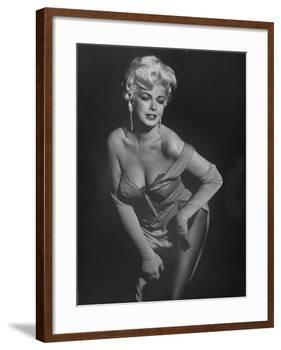 "TV Stripper Barbara Nichols in the Play ""The Untouchables""-J. R. Eyerman-Framed Premium Photographic Print"