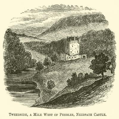 Tweedside, a Mile West of Peebles, Neidpath Castle--Giclee Print