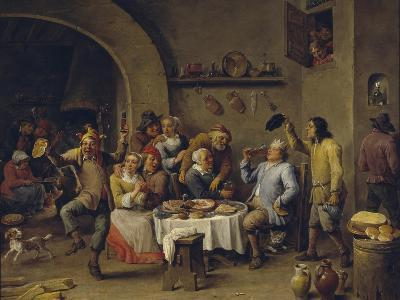 Twelfth Night Party, 1650-1660-David Teniers the Younger-Giclee Print