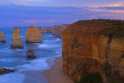 Twelve Apostles Sunset Sandstone Rock Formations--Photographic Print