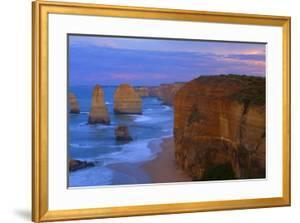 Twelve Apostles Sunset Sandstone Rock Formations