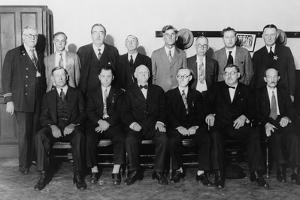 Twelve-Man Jury That Convicted Al Capone for Income Tax Evasion in 1931