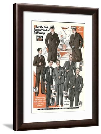 Twenties Clothes Catalog--Framed Art Print