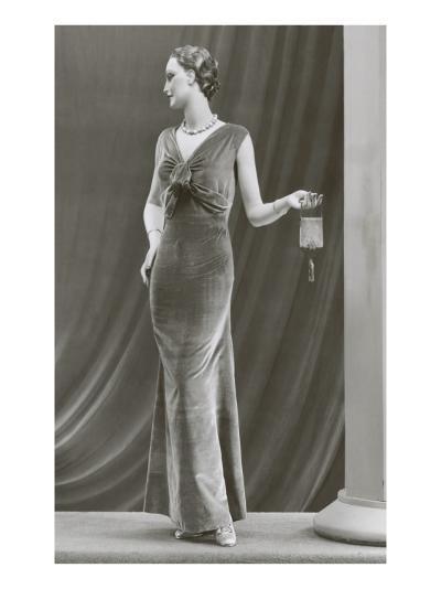 Twenties Mannequin in Velvet Dress--Art Print