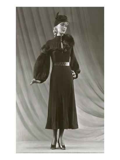 Twenties Mannequin with Mutton Sleeves--Art Print