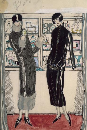 Twenties Women's Fashion Plate-M. Friedlaender-Giclee Print