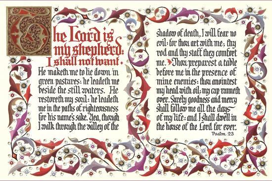 Twenty-Third Psalm--Art Print