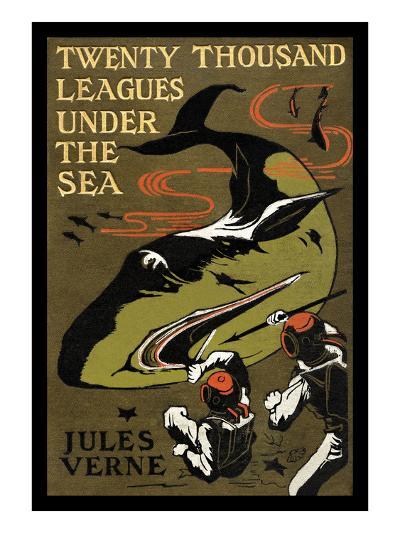 Twenty Thousand Leagues under the Sea-Jules Verne-Art Print
