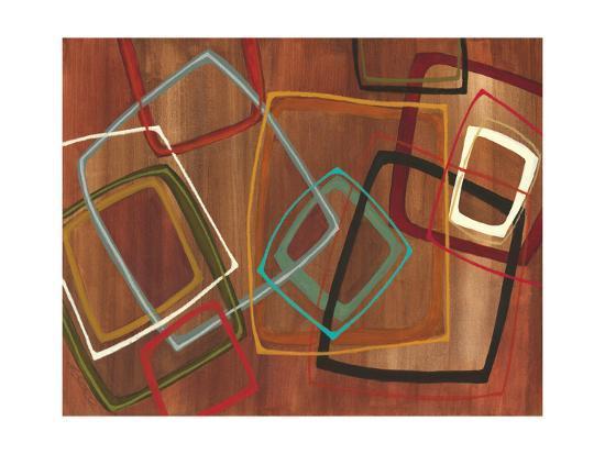 Twenty Tuesday II - Brown Square Abstract-Jeni Lee-Premium Giclee Print