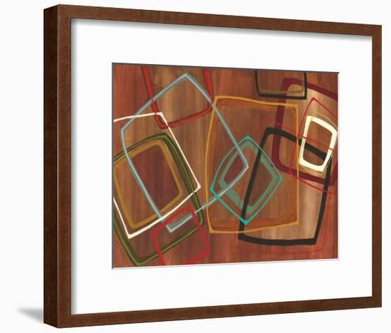 Twenty Tuesday II - Brown Square Abstract-Jeni Lee-Framed Premium Giclee Print