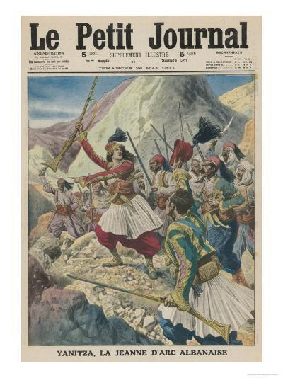Twenty-Two Year Old Yanitza Leads the Albanian Patriots in a Revolt Against Turkish Rule--Giclee Print