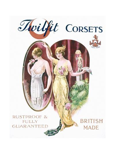 Twilfit Corsets, Underwear Advertisement, Pub. by David Allen and Sons Ltd., 1920--Giclee Print