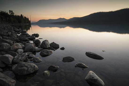 Twilight at Lake Mcdonald in Montana's Glacier National Park-Keith Ladzinski-Photographic Print