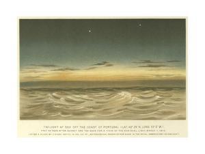 Twilight at Sea Off the Coast of Portugal, Latitude 40° 29' N, Longitude 10° 0' W