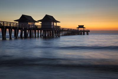 Twilight at the Naples Pier, Naples, Florida, Usa-Brian Jannsen-Photographic Print