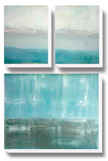 Twilight Blues-Caroline Gold-Canvas Art Set