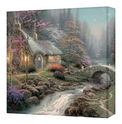 Twilight Cottage Gallery Wrapped Canvas By Thomas Kinkade Art Com