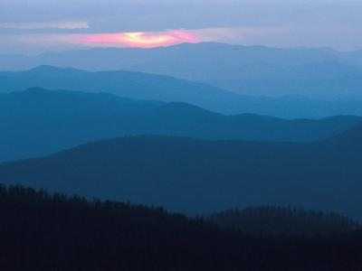 Twilight Covers the Ridges of the Blue Ridge Mountains-Raymond Gehman-Photographic Print