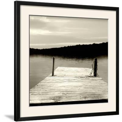 Twilight Dock III--Framed Photographic Print