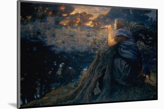 Twilight Fantasies, 1911 (W/C)-Edward Robert Hughes-Mounted Premium Giclee Print