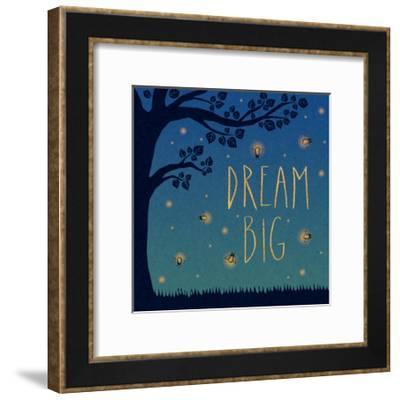 Twilight Fireflies I-Laura Marshall-Framed Art Print