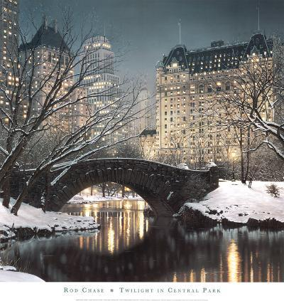 Twilight in Central Park-Rod Chase-Art Print