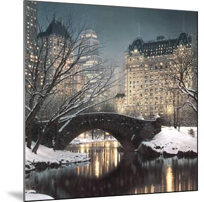 Twilight in Central Park-Rod Chase-Mounted Art Print