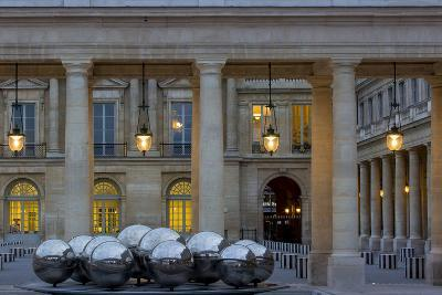 Twilight in the Courtyard of Palais Royal, Paris, France-Brian Jannsen-Photographic Print