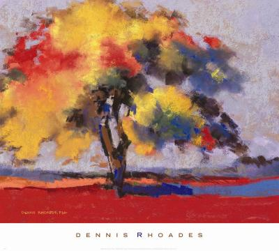 Twilight Oak I-Dennis Rhoades-Art Print