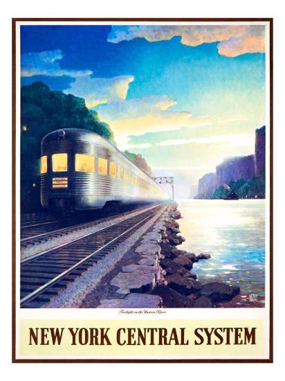 Twilight on the Hudson River--Giclee Print