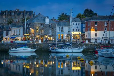 Twilight over Harbor Village of Padstow, Cornwall, England-Brian Jannsen-Photographic Print