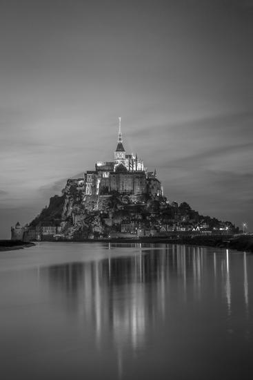 Twilight over Le Mont Saint Michel, Normandy, France-Brian Jannsen-Photographic Print