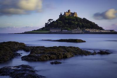 Twilight over Saint Michael's Mount, Marazion, Cornwall, England, Uk-Brian Jannsen-Photographic Print