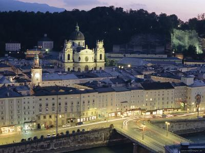 Twilight, Salzburg, Salzburgland, Austria, Europe-Christian Kober-Photographic Print