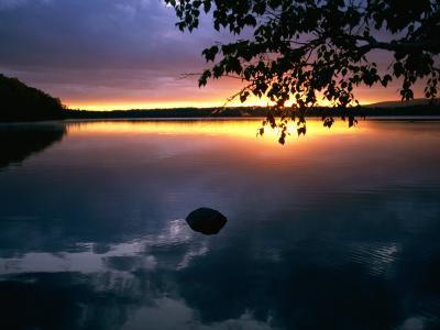 Twilight Settles over Elbow Lake--Photographic Print