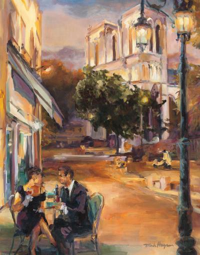 Twilight Time in Paris-Marilyn Hageman-Art Print