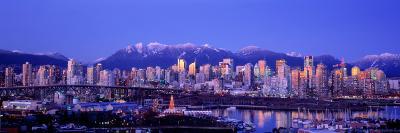 Twilight, Vancouver Skyline, British Columbia, Canada--Photographic Print