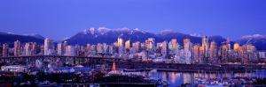 Twilight, Vancouver Skyline, British Columbia, Canada