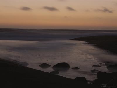 Twilight View of a Beach South of Carmel, California-Mark Cosslett-Photographic Print