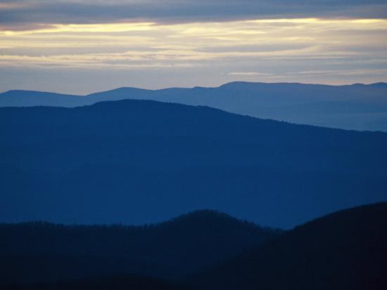 Twilight View of the Blue Ridge Mountains from Big Meadows-Raymond Gehman-Photographic Print