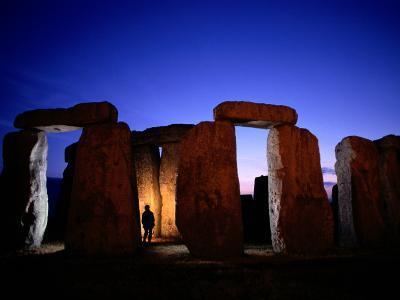 Twilight View of the Ruins of Stonehenge-Richard Nowitz-Photographic Print