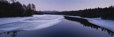 Twilight View of the Second Pond of the Lower Saranac Lake-Michael Melford-Photographic Print