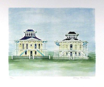 Twin Houses Mississippi-Mary Faulconer-Limited Edition